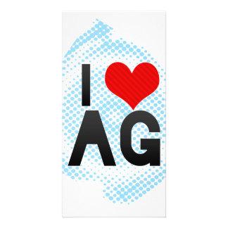I Love AG Photo Card