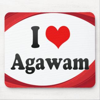 I Love Agawam, United States Mouse Pad