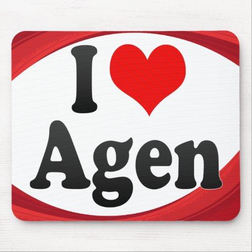I Love Agen, France. J'Ai L'Amour Agen, France Mousepads