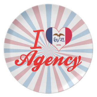 I Love Agency Iowa Party Plate