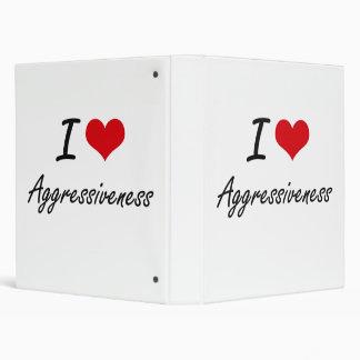 I Love Aggressiveness Artistic Design Vinyl Binder