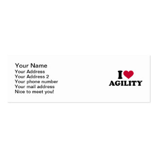 I love agility mini business card
