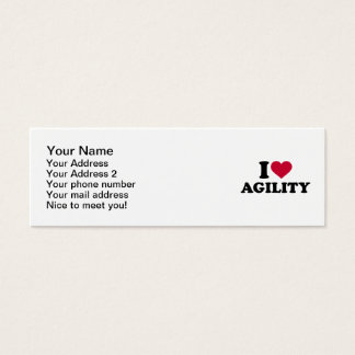 I love agility mini business card