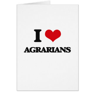 I love Agrarians Cards