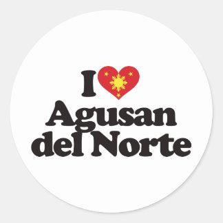 I Love Agusan del Norte Classic Round Sticker