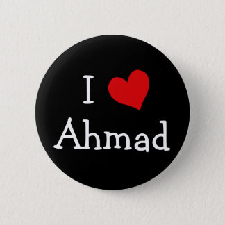I Love Ahmad Pinback Button