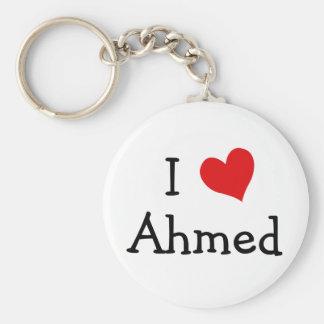 I Love Ahmed Keychain