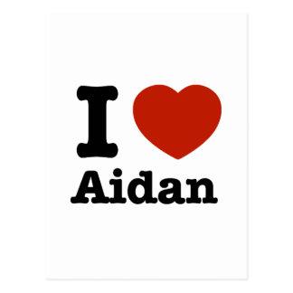 I love Aidan Postcard