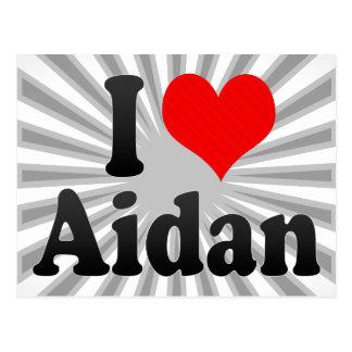 I love Aidan Post Card