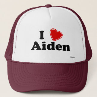 I Love Aiden Trucker Hat