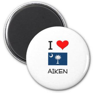 I Love Aiken South Carolina 2 Inch Round Magnet