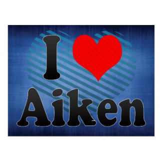 I Love Aiken, United States Postcard