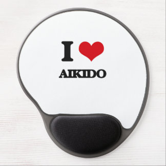 I Love Aikido Gel Mouse Pads