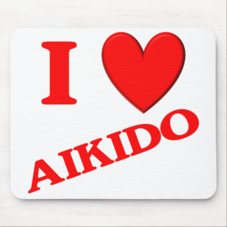 I Love Aikido Mouse Pads