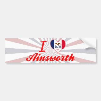 I Love Ainsworth, Iowa Bumper Sticker