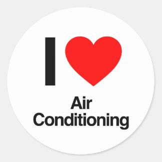 i love air conditioning sticker