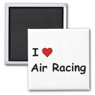 I Love Air Racing 2 Inch Square Magnet