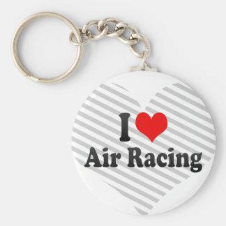 I love Air Racing Basic Round Button Keychain