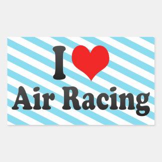 I love Air Racing Rectangular Sticker