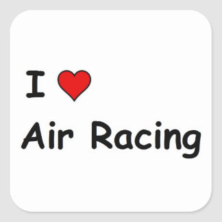 I Love Air Racing Square Sticker