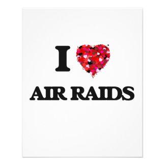 """I Love Air Raids 4.5"""" X 5.6"""" Flyer"""