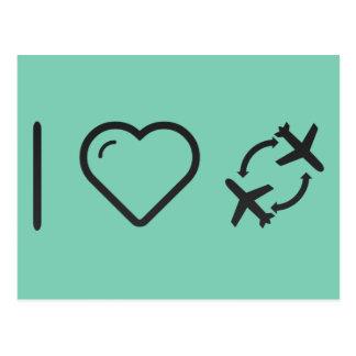 I Love Air Shows Postcard