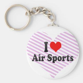 I love Air Sports Basic Round Button Keychain