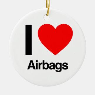 i love airbags ceramic ornament