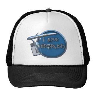 I LOVE AIRBRUSH Cap Hats