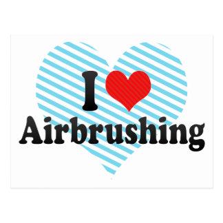 I Love Airbrushing Postcards