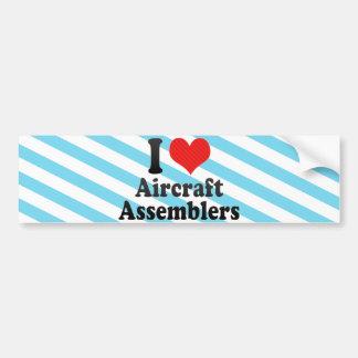 I Love Aircraft Assemblers Bumper Stickers