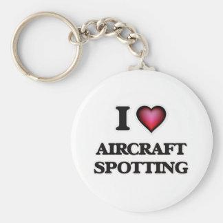 I Love Aircraft Spotting Keychain