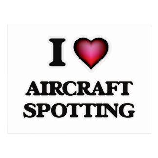 I Love Aircraft Spotting Postcard