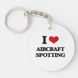 I Love Aircraft Spotting Single-Sided Round Acrylic Keychain
