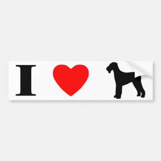 I Love Airedale Terriers Bumper Sticker