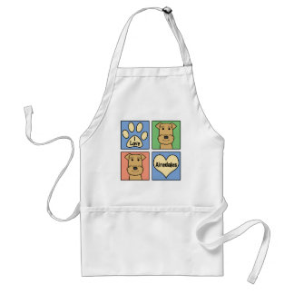 I Love Airedales Aprons
