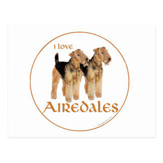 I Love Airedales Postcards
