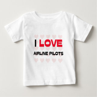 I LOVE AIRLINE PILOTS TEES