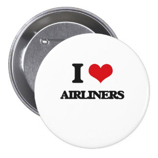 I Love Airliners Buttons