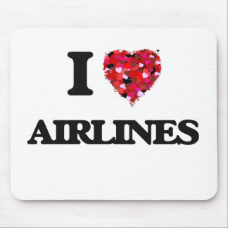 I Love Airlines Mouse Pad