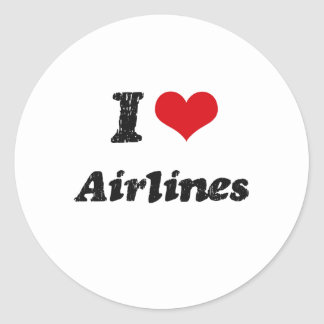 I Love Airlines Stickers