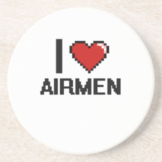 I love Airmen Beverage Coaster