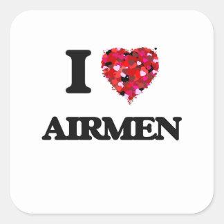 I love Airmen Square Sticker