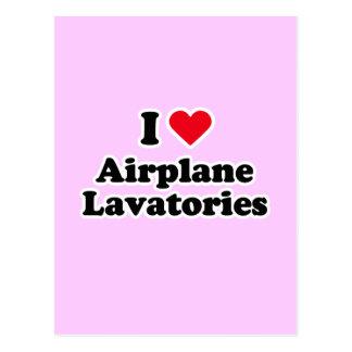 I love airplane lavatories postcard