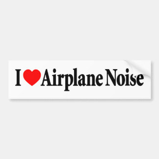 I Love Airplane Noise Bumper Stickers