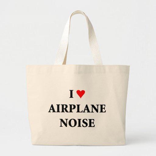 I love airplane noise canvas bag