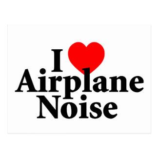I Love Airplane Noise Postcard