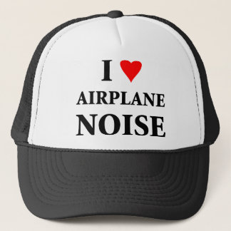 I love airplane noise trucker hat