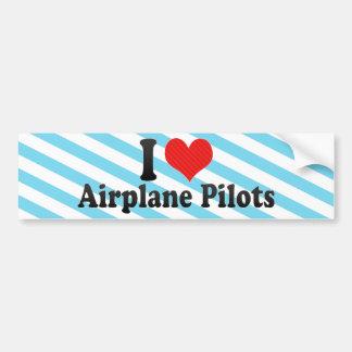 I Love Airplane Pilots Bumper Stickers