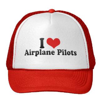 I Love Airplane Pilots Hat